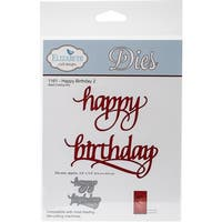 "Elizabeth Craft Metal Die-Happy Birthday 2, 3.4""X3.5"""
