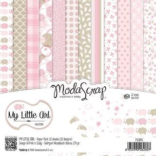 "Elizabeth Craft Modascrap Paper Pack 6""X6"" 12/Pkg-My Little Girl"