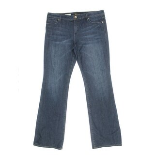 Kut From The Kloth Womens Farrah Medium Wash Denim Baby Bootcut Jeans - 2