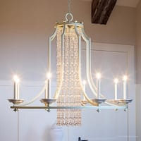 """Luxury Moroccan Chandelier, 30.75""""H x 36""""W, with Shabby Chic Style, Antique Silver Finish by Urban Ambiance"""
