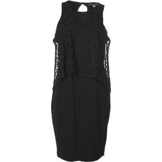 Wyatt Womens Casual Dress Ponte Lace