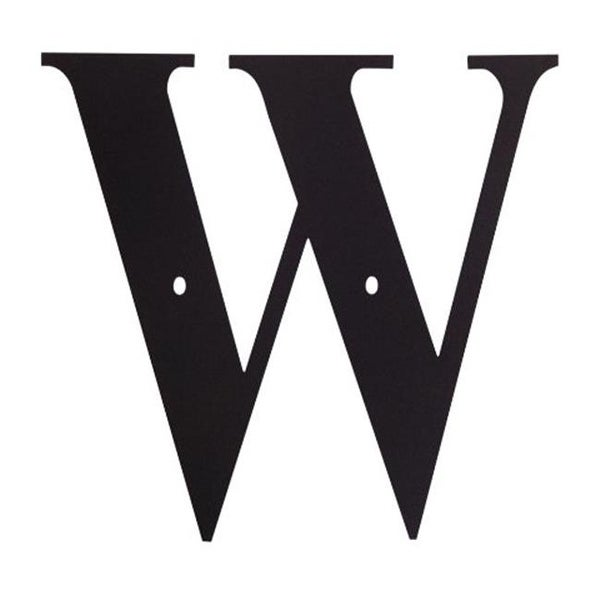 0fb5cab0d76 Shop Village Wrought Iron LET-W House Plaque Letter W - Black - Free  Shipping On Orders Over  45 - Overstock.com - 25000765