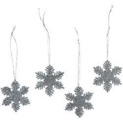 "Silver - Glitter Snowflake 2"" 12/Pkg"