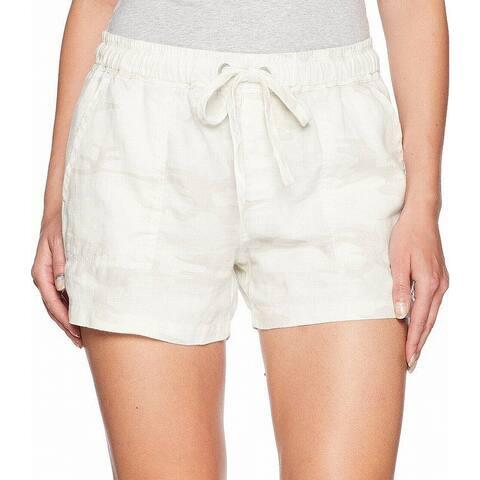 Sanctuary Womens Shorts White Size Large L Camouflage-Print Drawstring