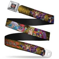 Yu Gi Oh! Logo Full Color Gray Fade Red Yu Gi Oh! 12 Character Poses Seatbelt Belt