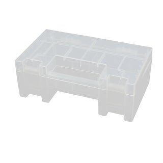 149mmx87mmx56mm Transparent Storage Case Hard Plastic Battery Holder Organizer