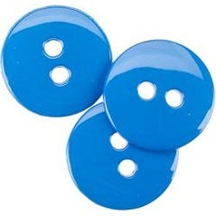 "Electric Blue 5/8"" - Small Color Buttons 20/Pkg"