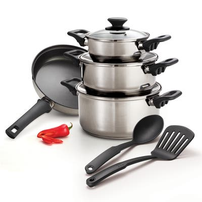 Tramontina Stainless Steel Tri-ply Base 9-piece Cookware Set