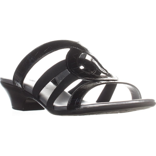 KS35 Emmee Strappy Dress Sandals, Black
