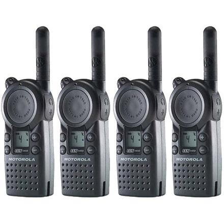 Motorola CLS1410 Professional Two Way Radio (4 Pack)