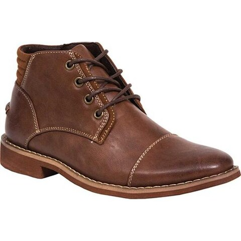 Deer Stags Boys' Hamlin Ankle Boot Brown Simulated Leather