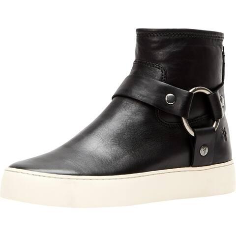 Frye Womens lena Booties Leather Harness - Black