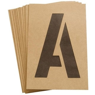 Hy-ko ST-6 6 in. Reusable Number Letter Stencil - Pack of 6