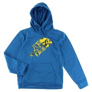 The North Face Mens Camo Surgent Hoodie Blue - Blue/Yellow