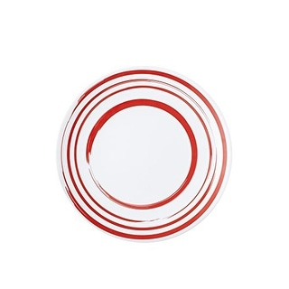 Q Squared NYC Madison Bloom Stripes Round Dinner Plate