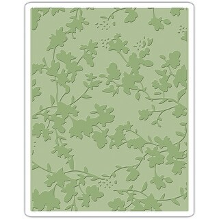 Sizzix Texture Fades A2 Embossing Folder-Floral By Tim Holtz