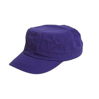bf1ecdd963d5ba Shop Women's Washed Military Cadet Style Cap - Purple - Free Shipping On  Orders Over $45 - Overstock - 20365180