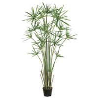 5' Potted Artificial Cypress Grass Tree - Green