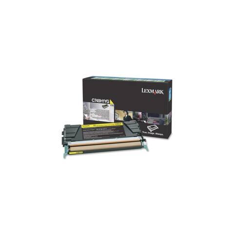 Lexmark C748H1YG Lexmark C748 Yellow High Yield Return Program Toner Cartridge - Yellow - Laser - 10000 Page - 1 Each