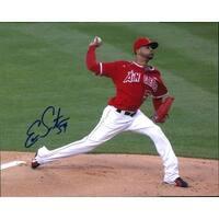 Signed Santana Ervin  Los Angeles Angels 8x10 Photo autographed