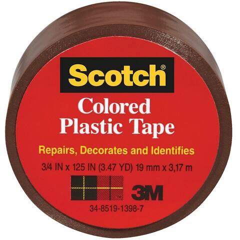 "Scotch 191BN Colored Plastic Tape, 1-1/2"" x 125"", Brown"