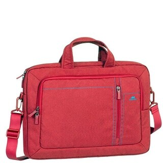 Rivacase 7530RED 15.6 in. Laptop Canvas Bag, Red - 6