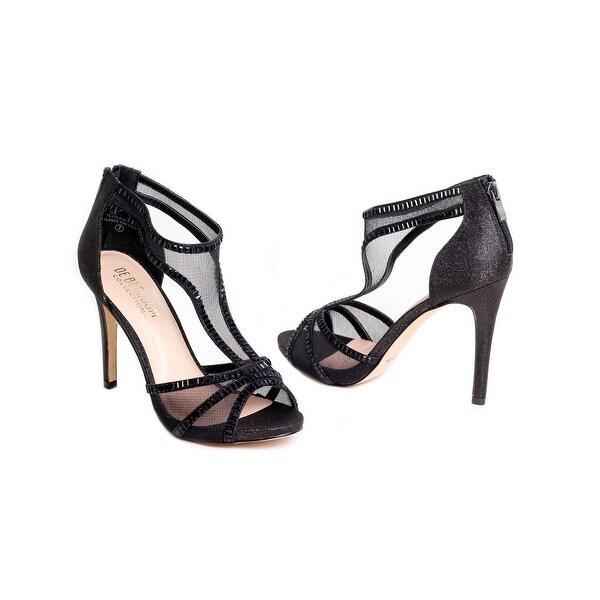 Embellished Mesh T-Strap Heel