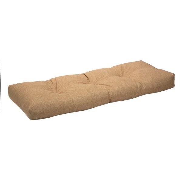 """Patio Outdoor/Indoor Husk Birch Bench Cushion - 43"""" x 19"""" x 3"""". Opens flyout."""
