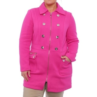 INC International Concepts  Embellished Zipper Trench Coat Trench