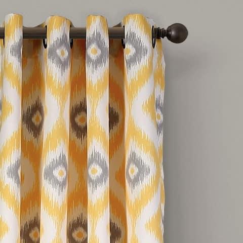 """Lush Decor Diamond Ikat Room Darkening Window Curtain Panel Set - 52""""W x 84""""L - 52""""W x 84""""L"""
