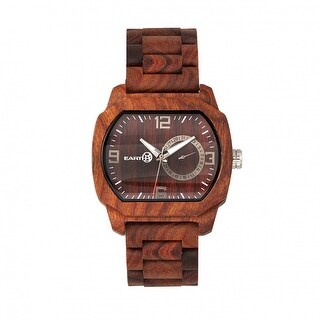 Earth Wood Scaly Unisex Quartz Watch, Wood Band, Luminous Hands