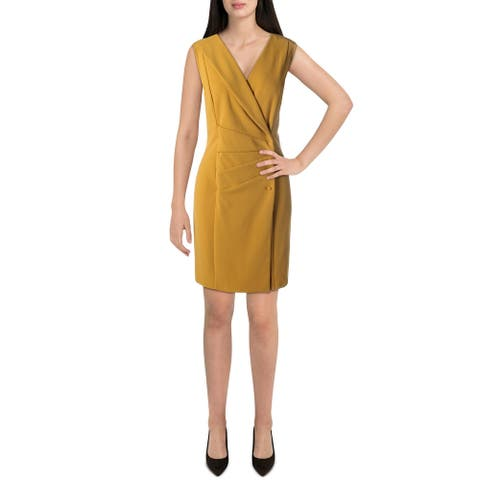 Nanette Nanette Lepore Womens Wear to Work Dress Knit Sleeveless - Grooving Gold