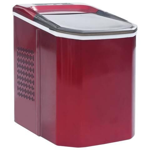 vidaXL Ice Cube Maker Red 0.37 Gallon 33.1 lbs / 24 h