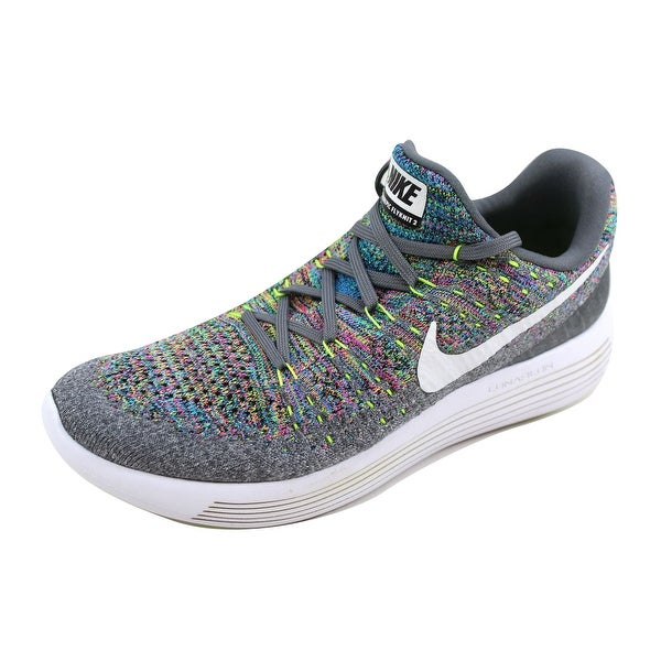121dbc8d29a3a Shop Nike Men s Lunarepic Low Flyknit 2 Cool Grey White-Volt-Blue ...