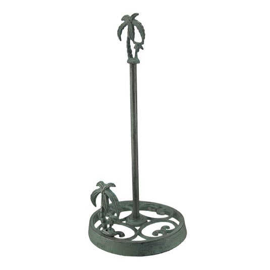 Tropical Palm Tree 15 Inch Decorative Cast Iron Paper Towel Holder