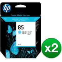 HP 85 69-ml Light Cyan DesignJet Ink Cartridge (C9428A) (2-Pack)