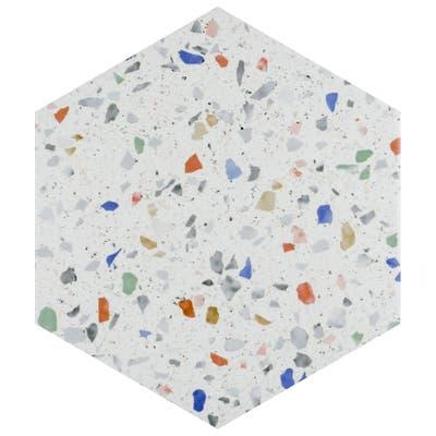 "SomerTile Venice Hex Colors Light 8.63"" x 9.86"" Porcelain Floor and Wall Tile"