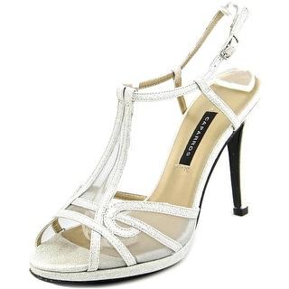 Caparros Laura Peep-Toe Synthetic Slingback Heel