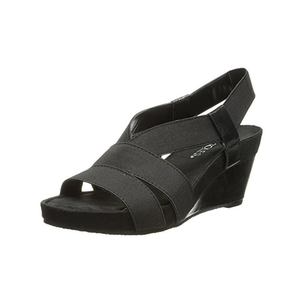 Aerosoles Womens Light Rail Wedge Sandals Slingback Cushioned