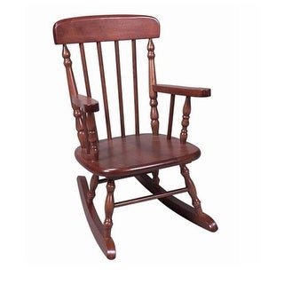 Giftmark 1410C Deluxe Child apos;s Spindle Rocking Chair- Cherry