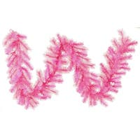 "9' x 16"" Pre-Lit Pink Cashmere Artificial Christmas Garland - Clear Lights"