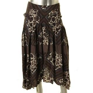 Free People Womens Printed Boho Maxi Skirt