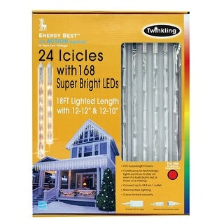 Energy Best 7109002-01 Tubular Dripping Icicle Set, White