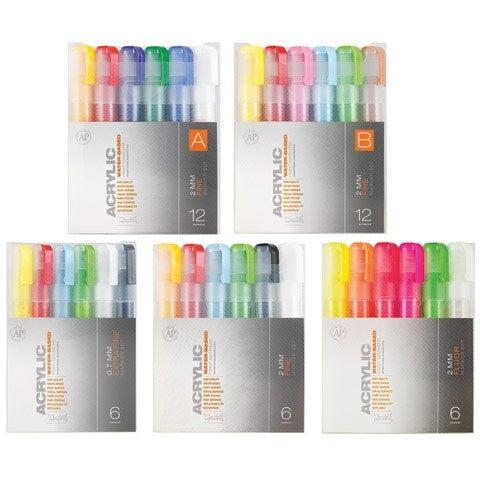Montana Cans - Montana Acrylic Marker Set - 12-Marker Set B - Fine