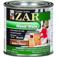 ZAR 11506 Interior Oil-Based Wood Stain, Modern Walnut, 1/2 Pint