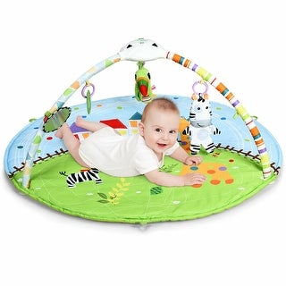 Link to Costway Baby Activity Gym Play Mat w/ Hanging Toys Projector Infant - Green Similar Items in Activity Gear