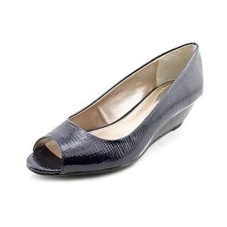 Alfani Cammi Women Open Toe Synthetic Blue Wedge Heel