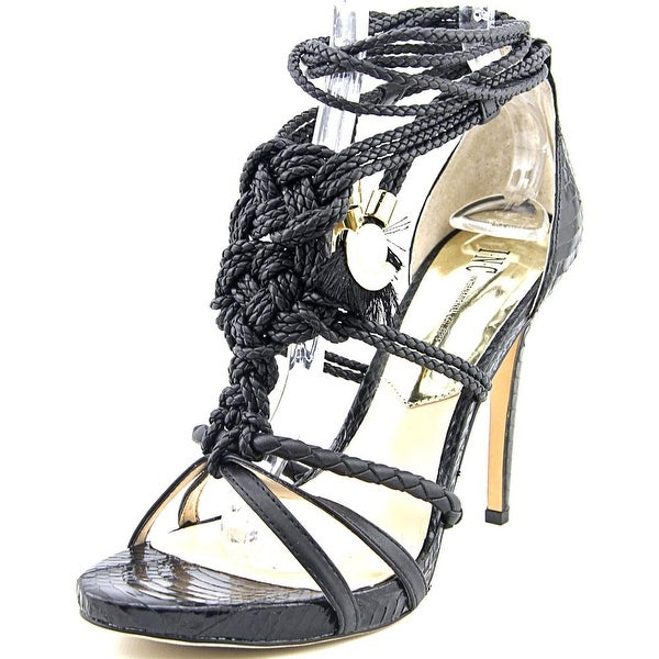 INC International Concepts Sandraa Women Black Sandals
