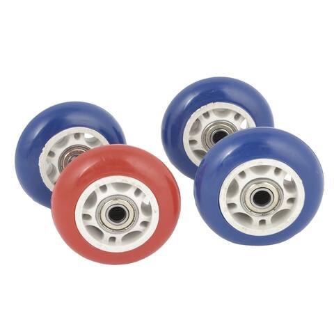 4 Pcs Blue Red Skating Shoes 608ZZ Bearing 70mm Diameter Inline Wheel Roller