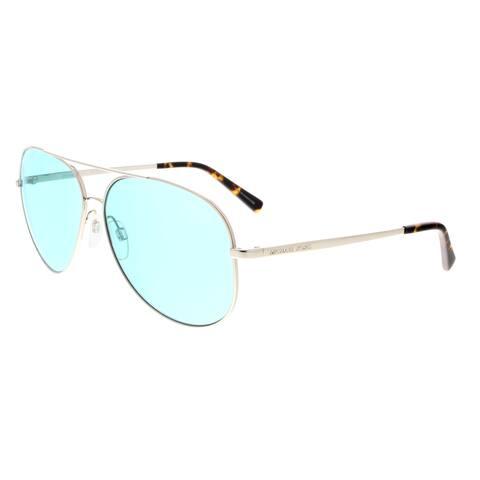 e574266c0675 Michael Kors MK5016 113765 Kendall Shiny Silver Aviator Sunglasses -  60-12-135